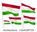 tadjikistan vector flags set. 5 ... | Shutterstock .eps vector #1164189724