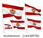 french polynesia vector flags... | Shutterstock .eps vector #1164189781