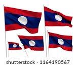 lao peoples democratic republic ... | Shutterstock .eps vector #1164190567