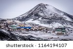 mcmurdo base and observation... | Shutterstock . vector #1164194107
