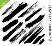 brush strokes vector | Shutterstock .eps vector #116419597