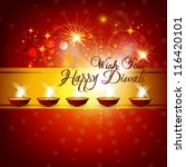 beautiful vector diwali card... | Shutterstock .eps vector #116420101