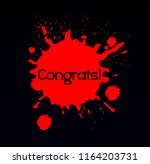 congrats  beautiful greeting... | Shutterstock .eps vector #1164203731
