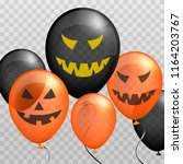 scary balloons.decoration for...   Shutterstock .eps vector #1164203767
