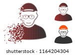 pensioner icon with face in... | Shutterstock .eps vector #1164204304