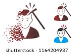murder with hammer icon with... | Shutterstock .eps vector #1164204937