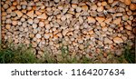 material for heating the house. ... | Shutterstock . vector #1164207634