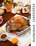 roasted pepper turkey for... | Shutterstock . vector #1164210514