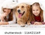 cute little girls having fun... | Shutterstock . vector #116421169