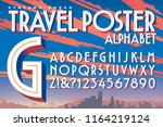 a vector 3d alphabet in the... | Shutterstock .eps vector #1164219124