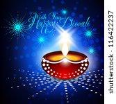 beautiful vector diwali de ya... | Shutterstock .eps vector #116422237