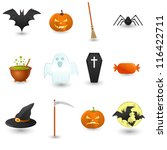 halloween icons set | Shutterstock .eps vector #116422711
