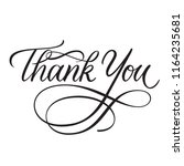 thank you classic calligraphy... | Shutterstock .eps vector #1164235681