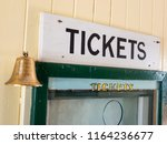 Ticket Sign Black Paint On...
