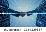 digital binary code concept. | Shutterstock . vector #1164239857