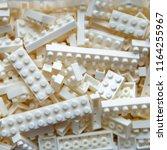 plastic toy block of white... | Shutterstock . vector #1164255967