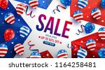 labor day sale poster template... | Shutterstock .eps vector #1164258481