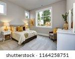 guest modern bedroom interior... | Shutterstock . vector #1164258751