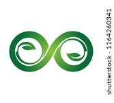 green eco infinity symbol icons ... | Shutterstock .eps vector #1164260341
