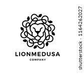 lion medusa gorgona logo vector ... | Shutterstock .eps vector #1164262027