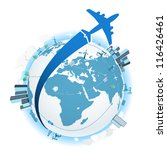 traveling by a plane. vector... | Shutterstock .eps vector #116426461