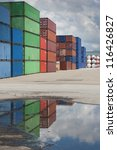 Cargo Containers On A Large...