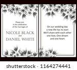 romantic wedding invitation... | Shutterstock .eps vector #1164274441