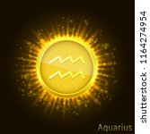 aquarius sign. horoscope symbol ...   Shutterstock .eps vector #1164274954