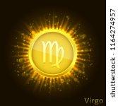 virgo sign. horoscope symbol...   Shutterstock .eps vector #1164274957