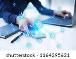 e commerce. internet shopping.... | Shutterstock . vector #1164295621