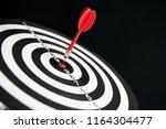 dart target with arrows  image... | Shutterstock . vector #1164304477