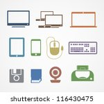 digital stuff icons | Shutterstock .eps vector #116430475