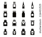 medical bottles icon set ... | Shutterstock .eps vector #116431525