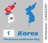 map outline of north korea ... | Shutterstock .eps vector #1164322207