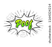 comic collection word poof ... | Shutterstock . vector #1164324214
