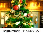 luxury interior of restaurant...   Shutterstock . vector #1164329227