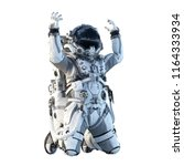 astronaut on white. mixed media | Shutterstock . vector #1164333934