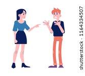 arguing people vector... | Shutterstock .eps vector #1164334507