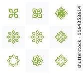 set of lotus wellness logo... | Shutterstock .eps vector #1164353614
