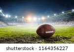rugby game concept. mixed media | Shutterstock . vector #1164356227