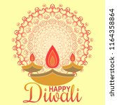 happy diwali with ornament of... | Shutterstock .eps vector #1164358864