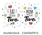 eat drink for two. mother mama... | Shutterstock .eps vector #1164365911