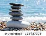 stone composition on the beach | Shutterstock . vector #116437375