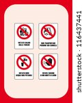signal prohibition  do not... | Shutterstock .eps vector #116437441
