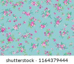 seamless pattern in small... | Shutterstock . vector #1164379444