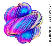 abstract holographic color... | Shutterstock . vector #1164393487