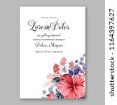 floral wedding invitation... | Shutterstock .eps vector #1164397627