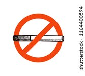 stop smoking vector sign with... | Shutterstock .eps vector #1164400594