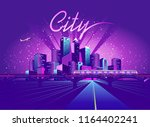 vector illustration neon... | Shutterstock .eps vector #1164402241