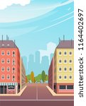 vector illustration asphalt...   Shutterstock .eps vector #1164402697